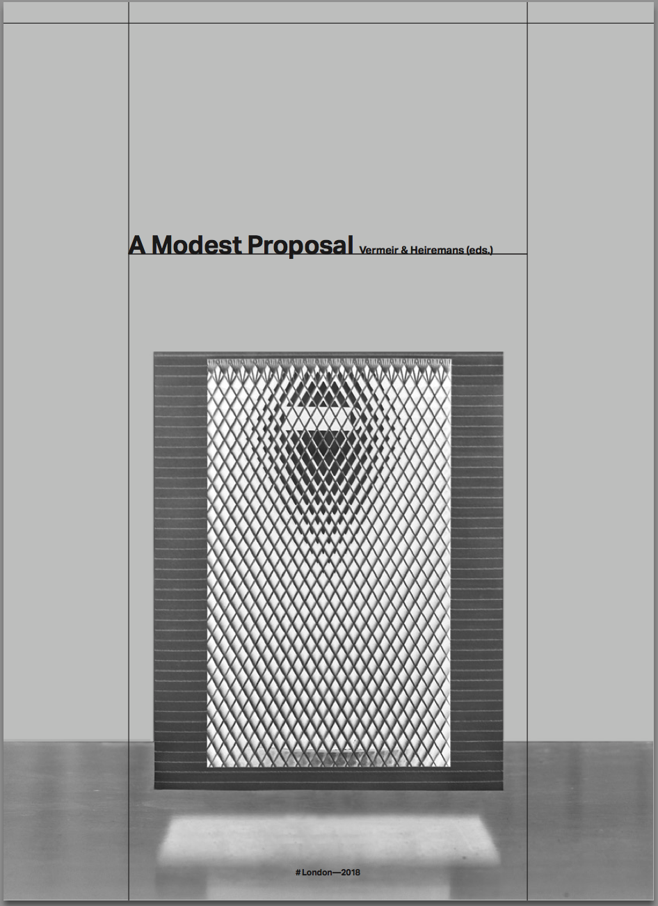 A MODEST PROPOSAL-a publication by Vermeir & Heiremans