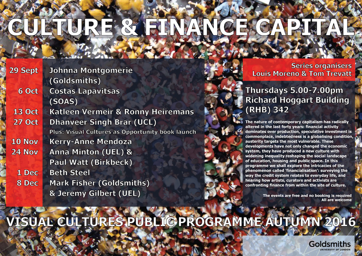 Lecture-presentation live-version Masquerade at Goldsmiths, London