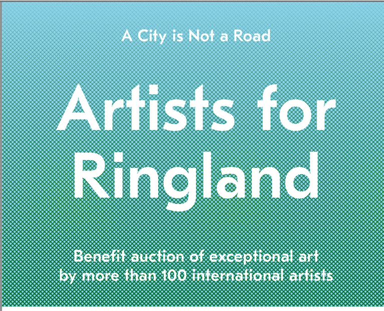 Benefit Auction Artists for Ringland / A City is Not a Road